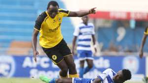 Brian Osumba (L) challenge Dennis Shikhayi