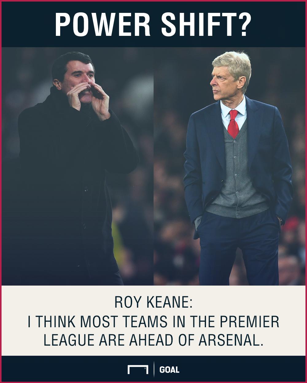 Roy Keane Arsenal most teams ahead