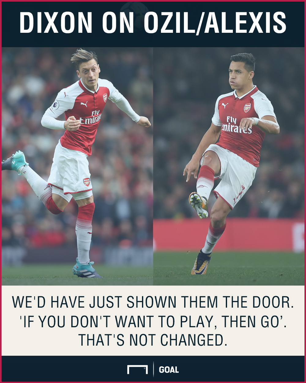 Have the Arsenal players had enough of Alexis and Ozil?