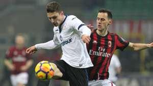 Nikola Kalinic Mattia Caldara Milan Atalanta Serie A