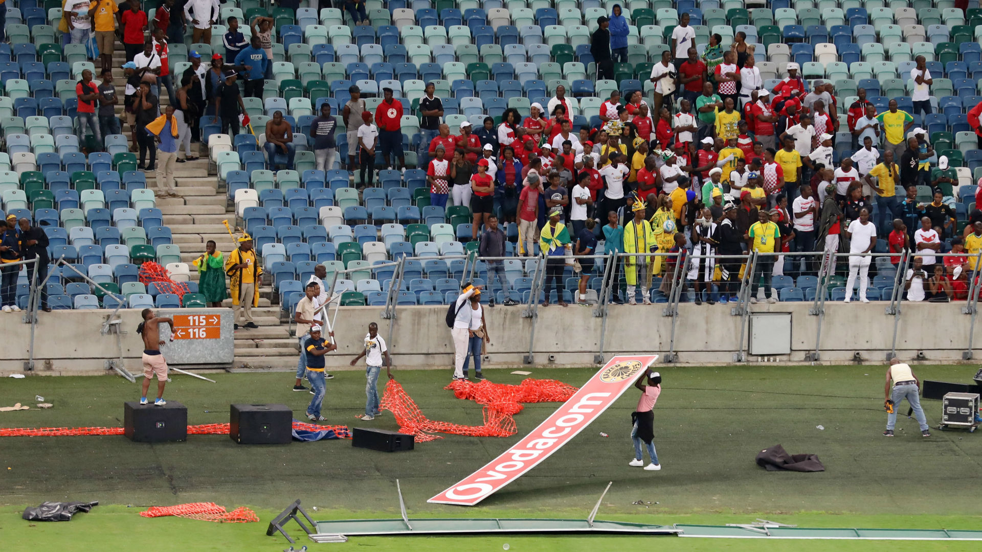 S. Africa's soccer hooligans appear in court