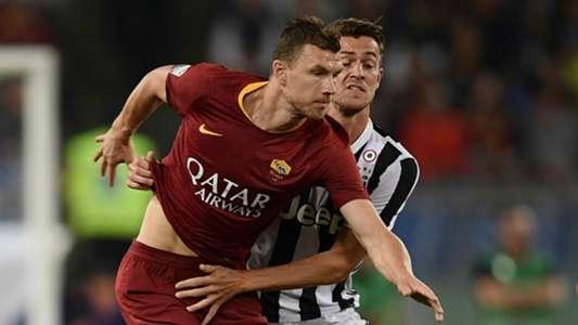Edin Dzeko, Daniele Rugani, Roma, Juventus, Serie A, 13052018