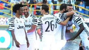 Juventus celebrating Bologna Juventus
