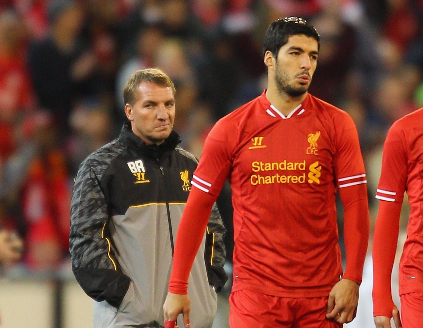Brendan Rodgers Luis Suarez Liverpool 2013