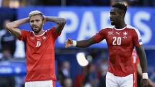 Valon Behrami and Johan Djourou Switzerland Romania Euro 2016