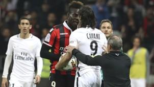 Edinson Cavani Mario Balotelli Nice PSG Ligue 1 30042017