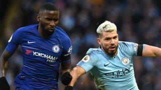 Antonio Rudiger Sergio Aguero Chelsea Manchester City 2018-19