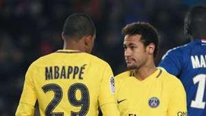Kylian Mbappe Neymar Strasbourg PSG Ligue 1