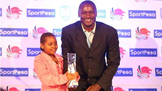 George Owino of Mathare United with KPL Award