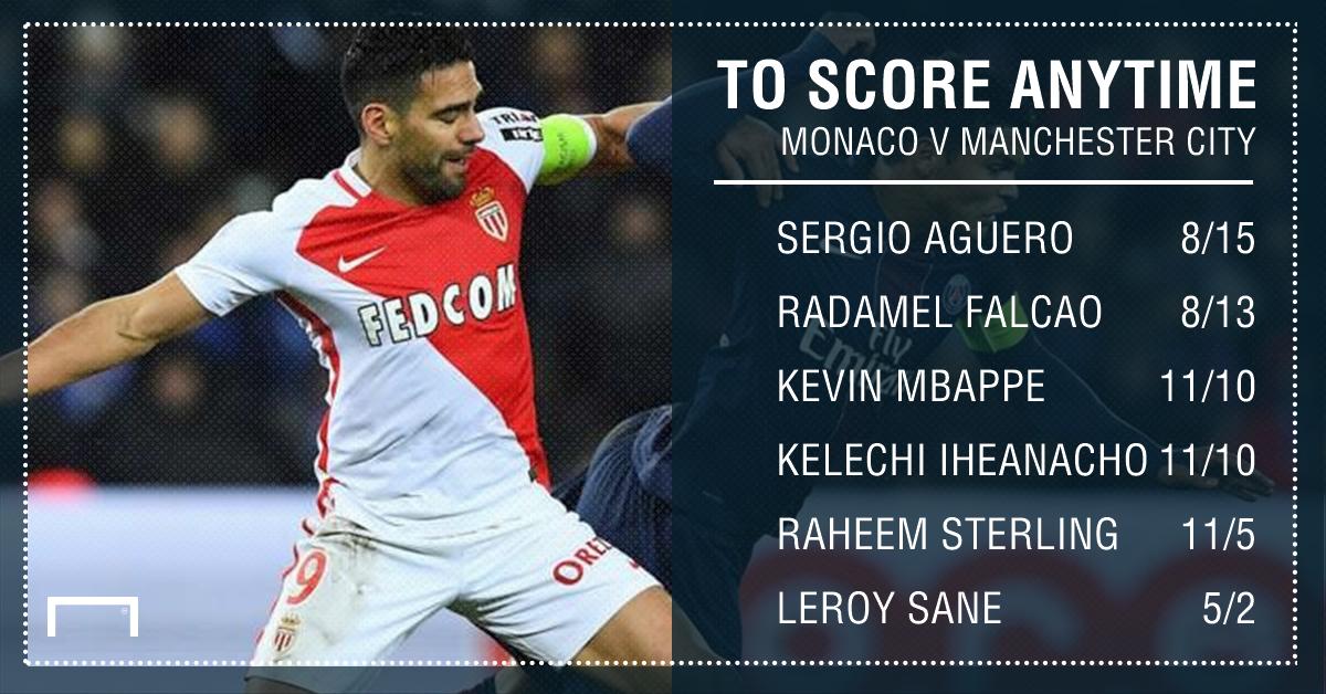 GFX Monaco Man City scorer betting