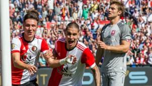 Kevin Diks, Steven Berghuis, Feyenoord - FC Twente, 13082017