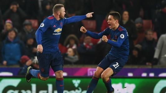 Wayne Rooney Premier League Stoke v Man Utd