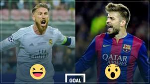 Sergio Ramos Real Madrid Gerard Pique Barcelona
