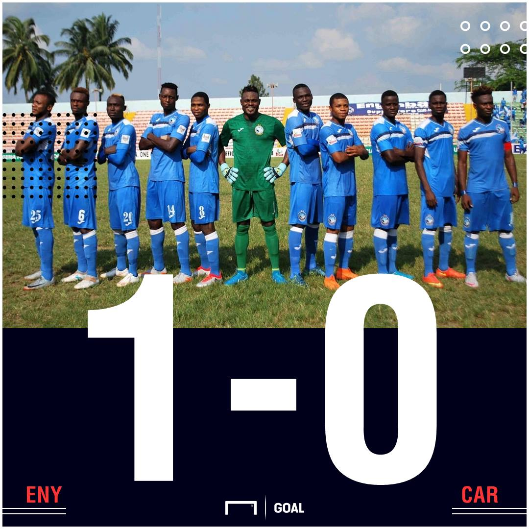 Enyimba CARA scoreline PS