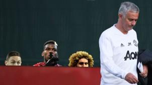 Nemanja Matic Paul Pogba Marouane Fellaini Jose Mourinho Man Utd 2018