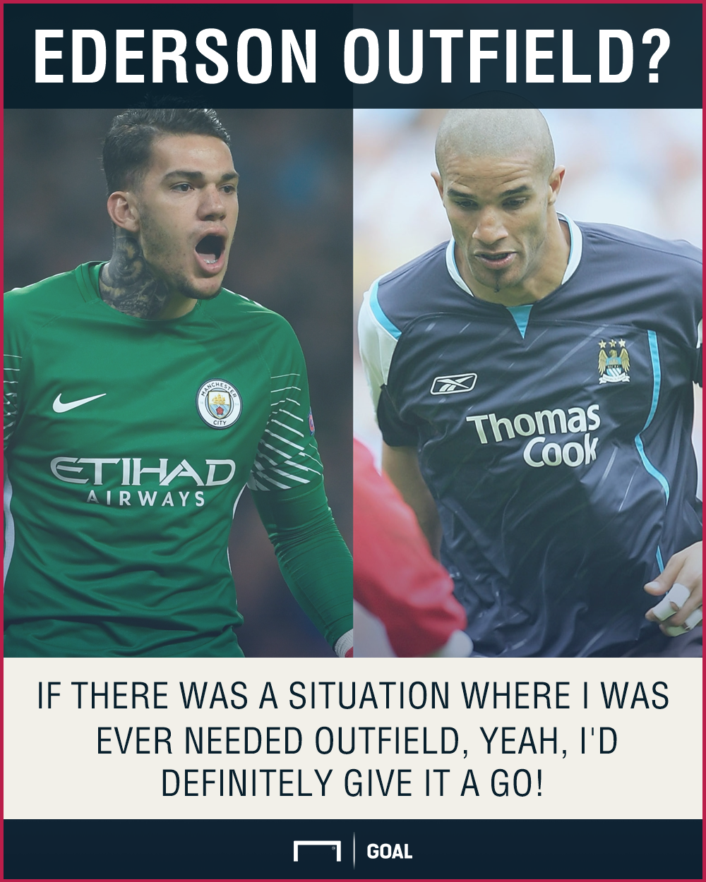 Ederson Manchester City outfield