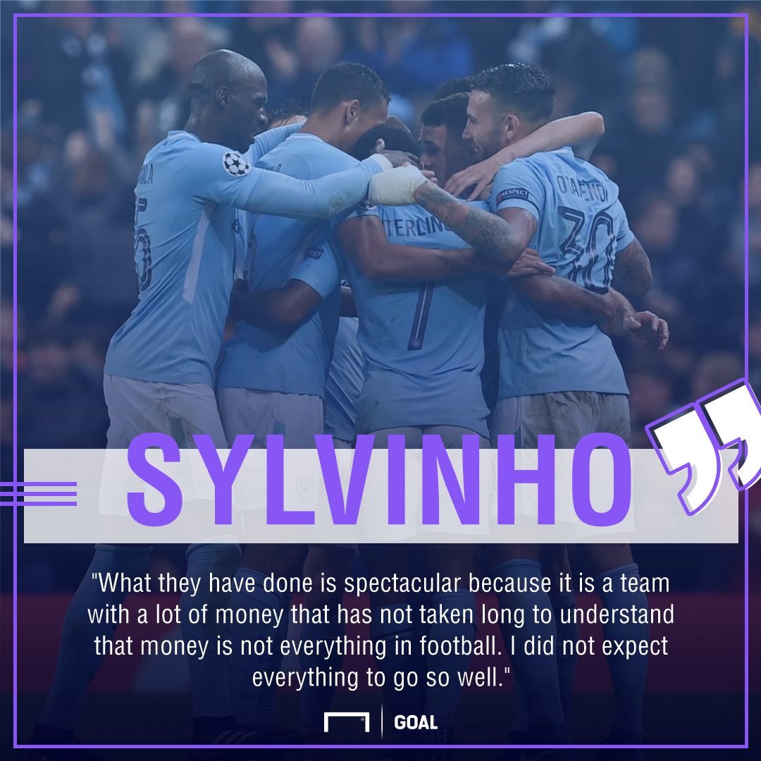 Sylvinho Manchester City progress
