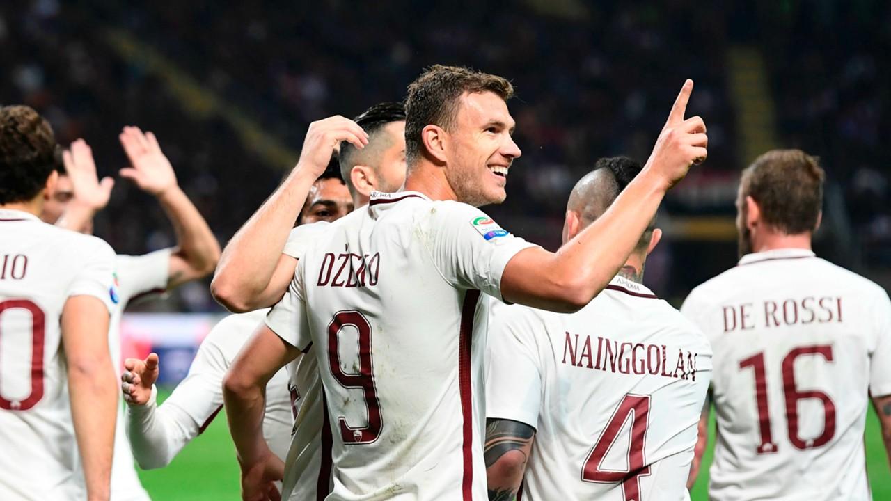 Edin Dzeko hits historic goal mark for Roma