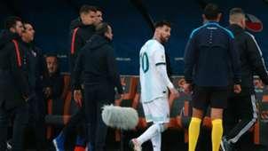 Messi expulsion Argentina Chile Copa América 06072019