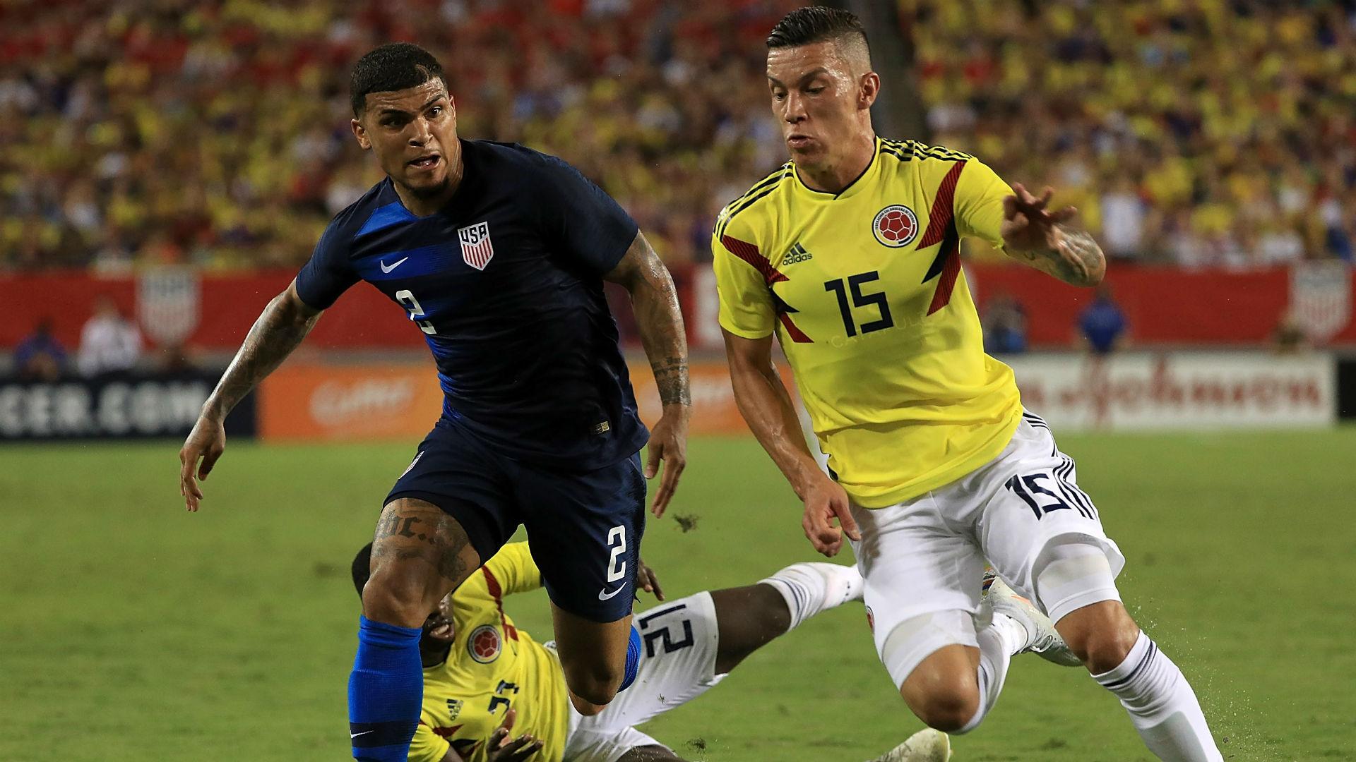 DeAndre Yedlin Mateus Uribe Colombia United States USA 11102018