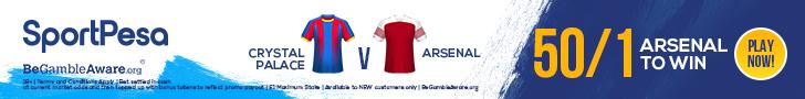 Crystal Palace Arsenal SportPesa offer
