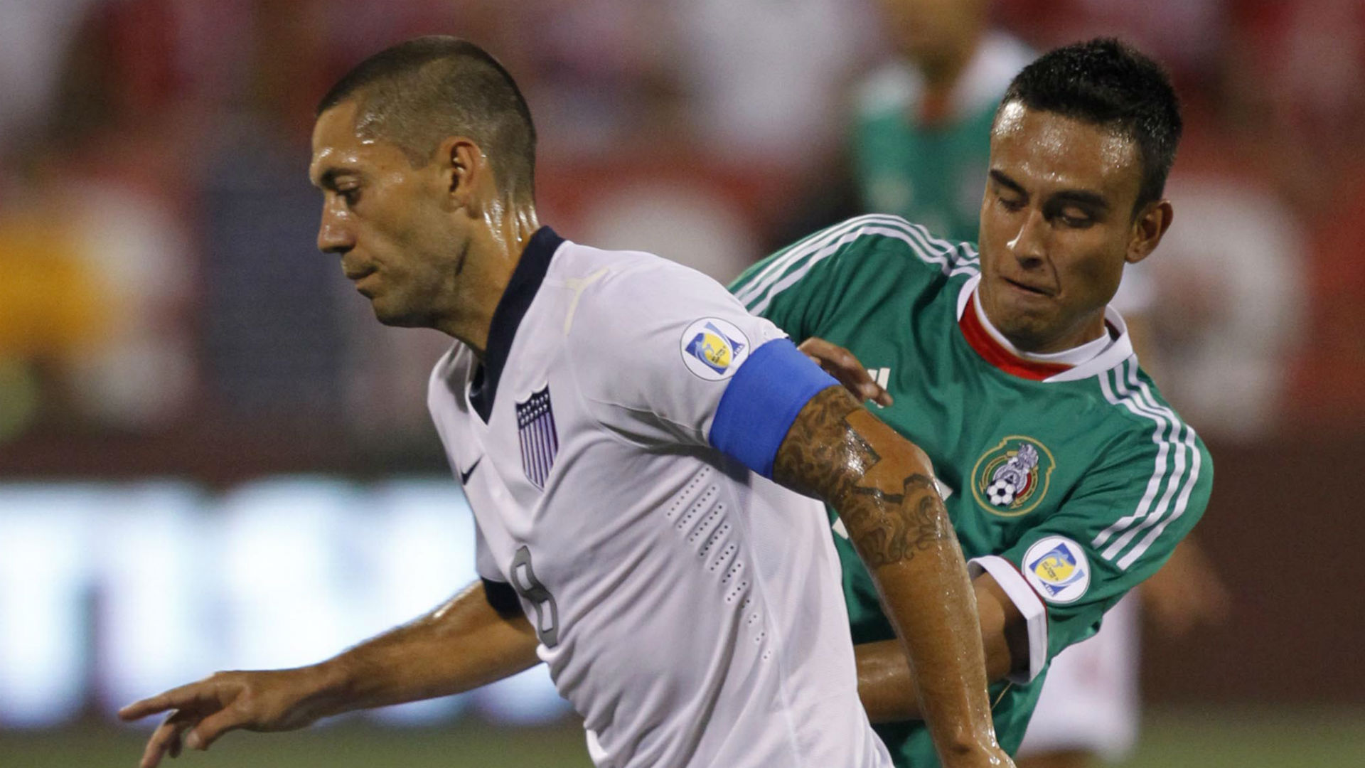Clint Dempsey Jesus Zavala USA Mexico WC Qualifying 2013