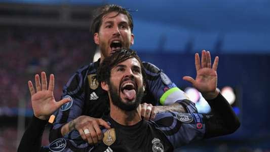 Isco Alarcon Sergio Ramos Atletico Madrid Real Madrid UEFA Champions League