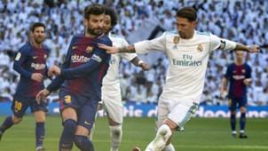 Pique FC Barcelona Sergio Ramos Real Madrid El Clasico 23122017