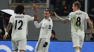 Gareth Bale Marcelo Toni Kroos Roma Real Madrid UCL 27112018
