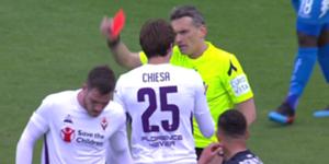 Veretout espulso Fiorentina Milan