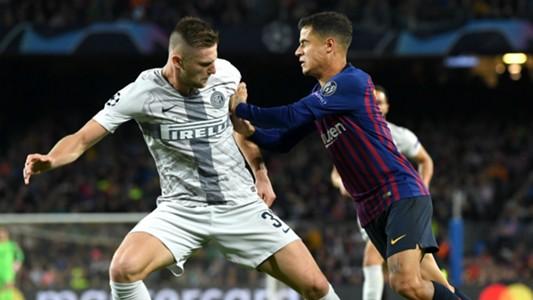 Milan Skriniar Philippe Coutinho Barcellona Inter Champions League