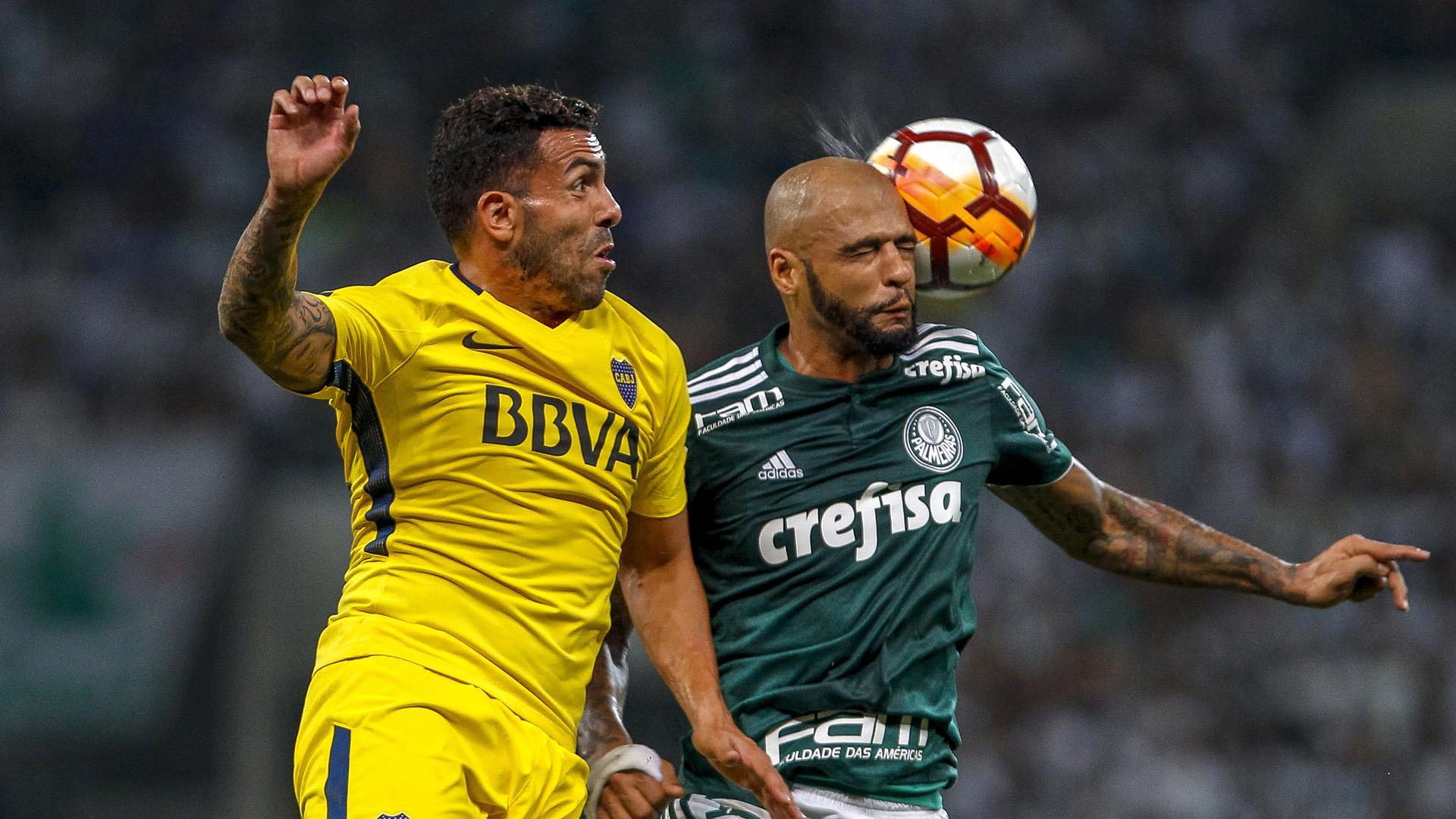 Carlos Tevez Felipe Melo Palmeiras Boca 11042018 Copa Libertadores