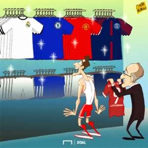 Cartoon Lewandowski