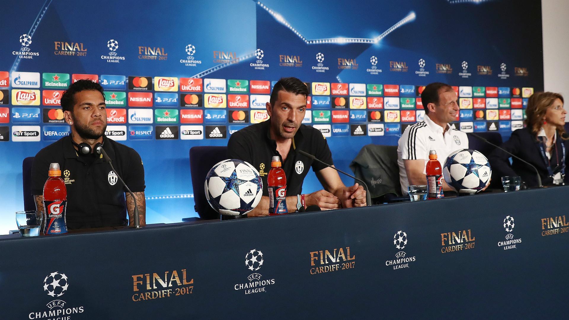 Dani Alves Buffon Allegri Juventus Champions League Final press conference