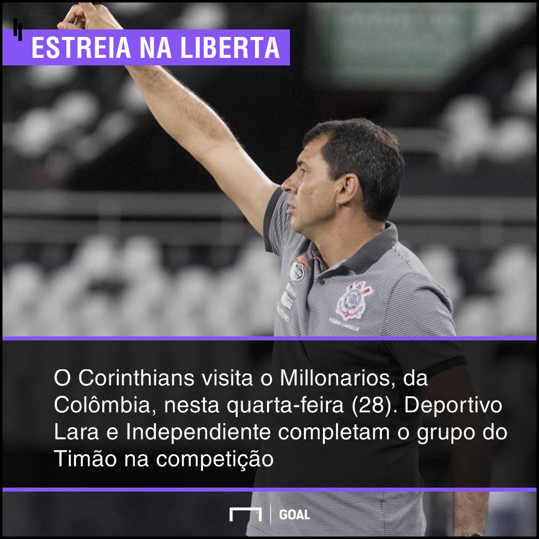 GFX bet365 Millonarios x Corinthians