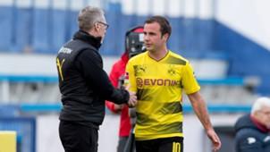 *GER ONLY* Mario Götze Peter Stöger Borussia Dortmund BVB