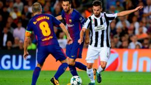Miralem Pjanic Andre Iniesta Barcelona Juventus Champions League