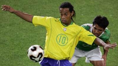 Ronaldinho Brazil Pavel Pardo Mexico