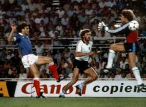 Harald Schumacher Patrick Battiston West Germany France 1982