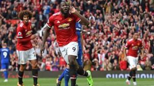 Romelu Lukaku, Manchester United - FC Everton, Premier League, 09172017