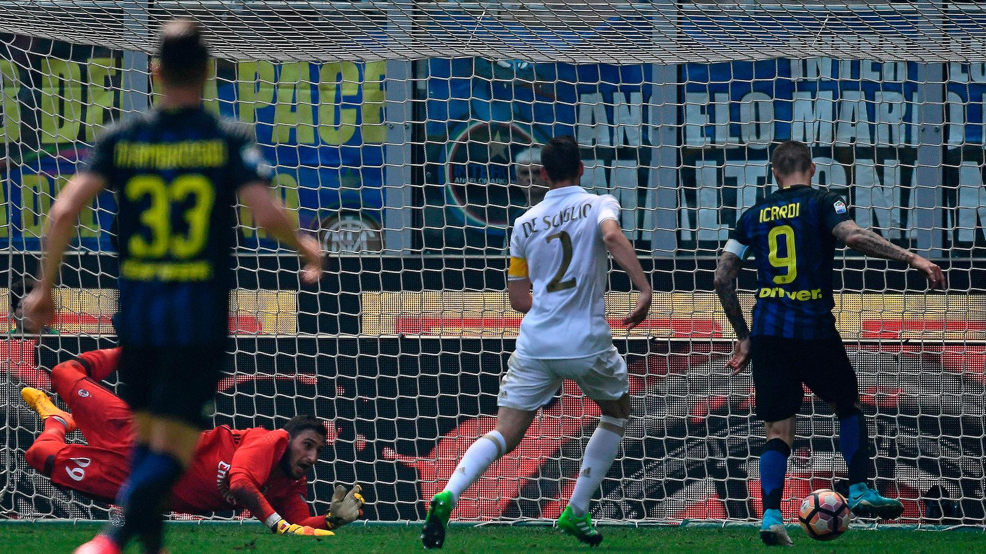 Maurio Icardi Inter AC Milan derby
