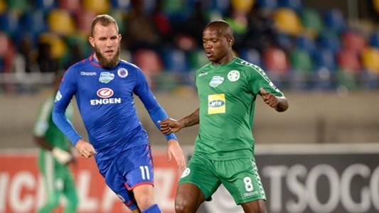 Jeremy Brockie, SuperSport United & Lantshane Phalane, Bloemfontein Celtic