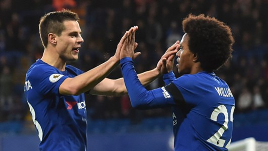 Willian Cesar Azpilicueta Chelsea Crystal Palace Premier League