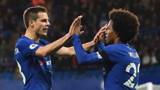 Willian Cesar Azpilicueta Chelsea Crystal Palace Premier League
