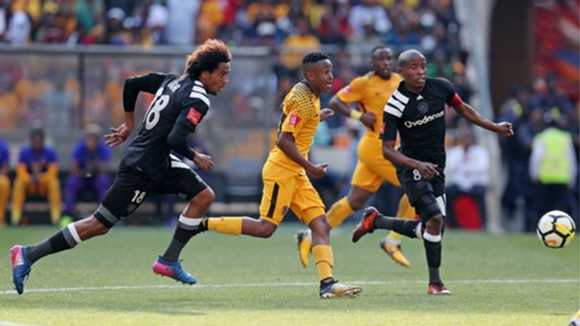 Issa Sarr Hendrick Ekstein and Thabo Matlaba - Kaizer Chiefs vs Orlando Pirates