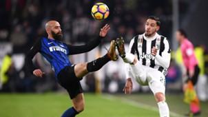 Borja Valero, Mattia De Sciglio, Juventus, Inter, Serie A, 09122017