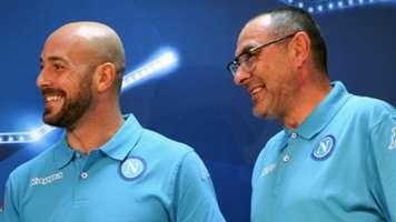 Pepe Reina Maurizio Sarri Napoli UEFA Champions League 10182016