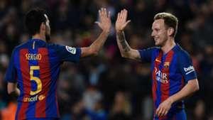 Sergio Busquets Ivan Rakitic Barcelona 2016-17