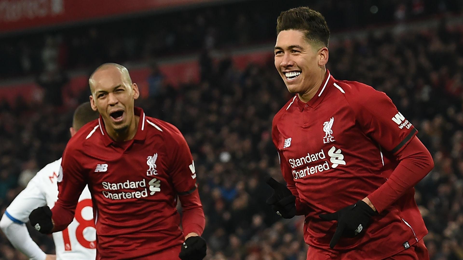 Fabinho Roberto Firmino Liverpool 2018-19