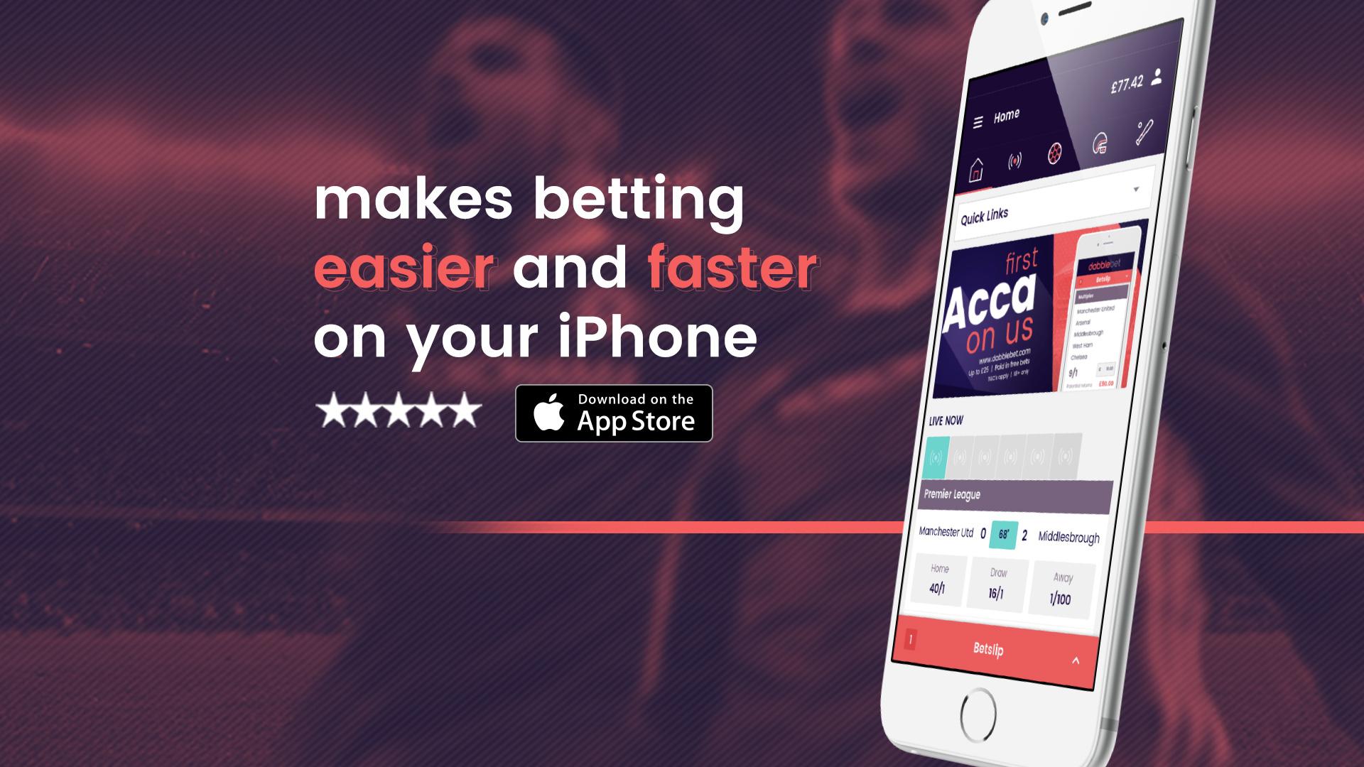 Download the brand new dabblebet iPhone app   Goal com